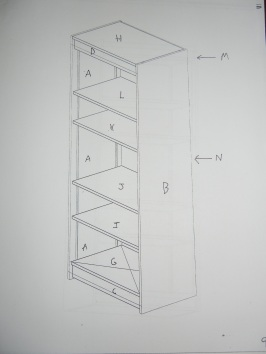 Design layout of parts